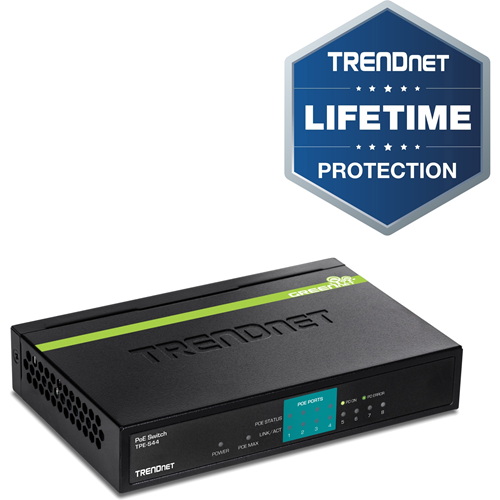 Conmutador Ethernet TRENDnet TPE-S44 8 - 8 x Fast Ethernet Red - 2 Capa compatible - 5 Año(s) Garantía limitada