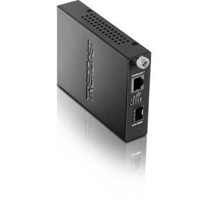 Convertidor de Media/Transceptor TRENDnet TFC-1000MGA - 1 Puerto(s) - 1 x Red (RJ-45) - Par trenzado - 10/100/1000Base-T, 1000Base-SX/LX - 80 km - 1 x Ranuras de Expansión - 1 Ranuras SFP - Montable en Pared, Interno, Montaje en bastidor