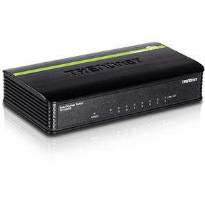 Conmutador Ethernet TRENDnet TE-100S8 8 - 8 x Fast Ethernet Red - 2 Capa compatible - 5 Año(s) Garantía limitada