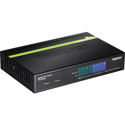 Conmutador Ethernet TRENDnet GREENnet TPE-TG44g 8 - 2 Capa compatible - Par trenzado - De Escritorio - 3 Año(s) Garantía limitada