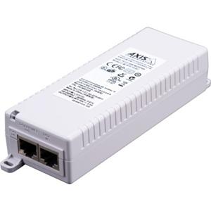 Inyector PoE AXIS T8133 - 120 V AC, 230 V AC Entrada - 1 10/100Base-TX Input Port(s) - 1 10/100Base-TX Output Port(s) - 30 W - Montable en paredes/Estantes/ Guías DIN