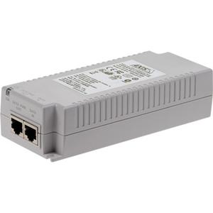 Inyector PoE AXIS T8134 - 110 V AC, 230 V AC Entrada - 55 V DC Salida - 10/100/1000Base-T Input Port(s) - 10/100/1000Base-T Output Port(s) - 60 W - Montable en paredes/Estantes/ Guías DIN