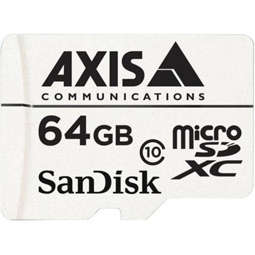microSDXC AXIS - 64 GB - Class 10 - 20 MB/s Leer - 20 MB/s Escribir