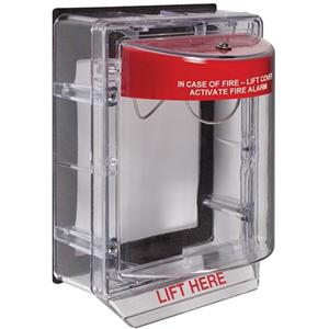 STI Weather Stopper STI-3150 Cubierta de Seguridad para Sistema de Alarma - Policarbonato - Rojo, Translúcida