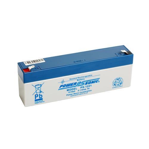 Batería Power-Sonic PS1221VDS - 2100 mAh - Acido de plomo sellada (SLA) - 12 V DC - Batería Recargable