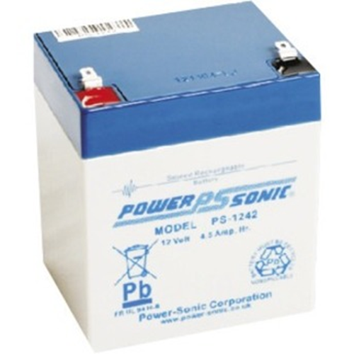 Batería Power-Sonic PS-1242 - 4500 mAh - Acido de plomo sellada (SLA) - 12 V DC - Batería Recargable