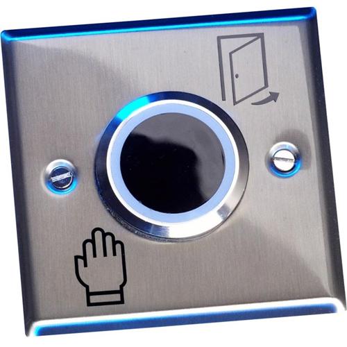 Elmdene Botón libre de Contacto - Plata - Acero Inoxidable, Plastico