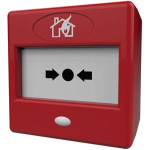 FireBrand FP3/RD Botón Pulsar Para Alarma contra incendios - Rojo - Plastico, Cristal