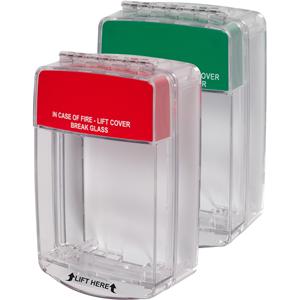 STI Euro Stopper STI-15C20ML Cubierta de Seguridad para Sistema de Alarma - Policarbonato - Rojo, Verde