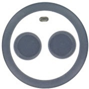Honeywell 2 Botones Llavero transmisor - Montable en Pared