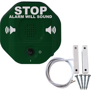 Alarma para puerta STI Exit Stopper - Cableado - 24 V DC - 105 dB - Audible - Verde, Rojo