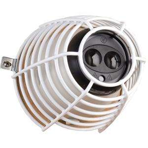 STI Damage Stopper Cubierta de Seguridad para Detector de humo - Resistente al Vandalismo, Resistencia a la corrosion, Resistente al DaDo/Deterioro - Acero, Poliéster - Blanco