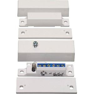 Alarmtech MC 472 Cable Contacto magnético - Para Puerta, Puerta, Ventanilla - Montaje en superficie - Blanco, Marrón