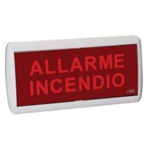 Señal LED Cooper - 320 mm Holding Width x 135 mm Holding Height - Resistente al fuego, Luz LED, Flasher, Acústico - Termoplástico, Policarbonato - Blanco