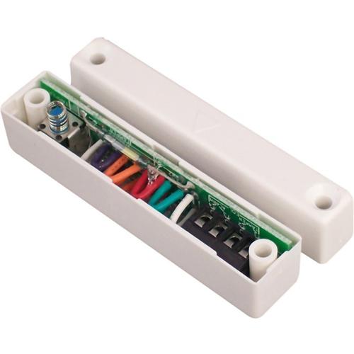 CQR SC517 Cable Contacto magnético - N.C. - 10 mm Espacio - Para Puerta Doble - Montaje en superficie - Blanco