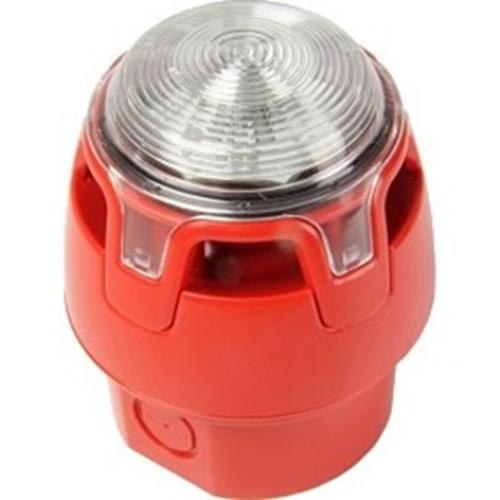 Sirena/Luz estroboscópica KAC - 29 V - 107 dB - Audible, Visual - Rojo, Rojo