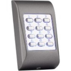 Dispositivo de acceso del teclado numérico XPR MTPADC-M - Gris Oscuro - Código llave - 99 Usuario(s) - Wiegand - 24 V DC - Montaje en superficie