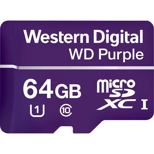 microSDXC WD Purple WDD064G1P0A - 64 GB - Class 10/UHS-I (U1) - 100 MB/s Leer - 60 MB/s Escribir