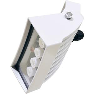 Videotec GEKO Iluminador infrarrojo para Cámara de vigilancia, Sistema de vigilancia de vídeo - Interior, Exterior, Vigilancia, Construcción, Stadium, Aeropuerto - A Prueba de Vandalismo, Resistente al agua - Metal Galvanizado