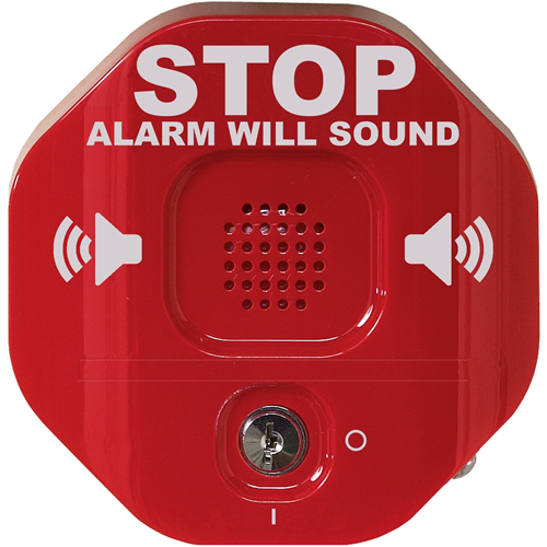 Alarma Seguridad STI Exit Stopper STI-6400 - 9 V - 105 dB - Audible, Visual - Montaje en puerta - Rojo