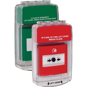 STI Euro Stopper Cubierta de Seguridad - Interior - Policarbonato - Rojo, Verde