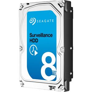 """Disco Duro Seagate SkyHawk ST8000VX004 - 3.5"""" Interno - 8 TB - SATA (SATA/600) - Sistema de vigilancia de vídeo, Grabador de vídeo en red Dispositivo compatible - 256 MB Búfer"""