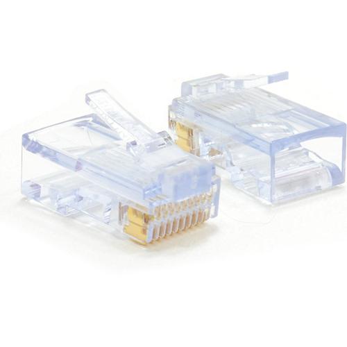 Conector de red W Box Oro Cromado - 10 Paquete(s) - 1 x RJ-45 Macho Network
