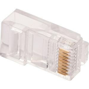 Conector de red W Box Oro Cromado - 100 Paquete(s) - 1 x RJ-45 Macho Network
