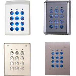 XPR Teclado de seguridad para Teclado Numérico, Puerta, Sistema de detección de intrusos - Resistente al agua, Resistente a la alteración, Resistente a la lluvia, Resistente a la UV, Resistente al polvo - Metálico, Aluminio