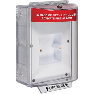 STI STI-13610FR Cubierta de Seguridad para Panel de control de alarma de incendios - Interior, Exterior - Resistente al Vandalismo, Resistente al DaDo/Deterioro, A prueba de manipulación, Resistente al polvo, Resistente al agua, Resistente al Sucio - Policarbonato - Rojo
