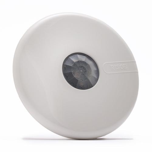 Sensor de movimiento Risco LuNAR - Cableado - Sensor infrarrojo pasivo (PIR) - 12 m Distancia de detección de movimiento - Montable en techo - Interior