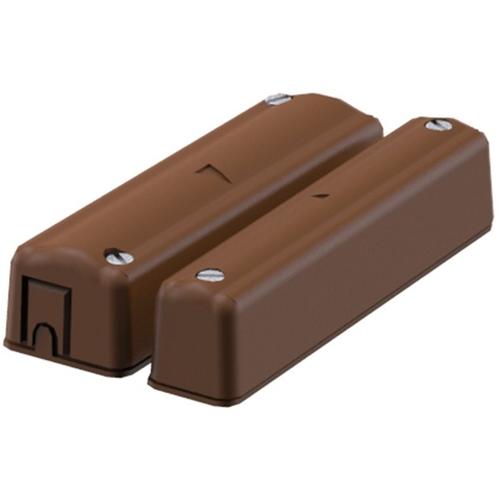CQR SC570 Cable Contacto magnético - SPST (N.O.) - 12 mm Espacio - Para Puerta, Ventanilla - Montaje en superficie - Marrón