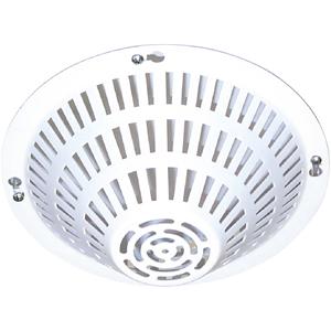 STI STI-8200-W Funda de detección de humos - Para Detector de humo - Montaje empotrado - Acero Inoxidable - Blanco