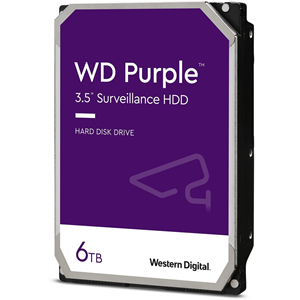 "Disco Duro WD Purple WD62PURZ - 3.5"" Interno - 6 TB - SATA (SATA/600) - Escritura intensiva - Sistema de vigilancia de vídeo Dispositivo compatible - 5640rpm"