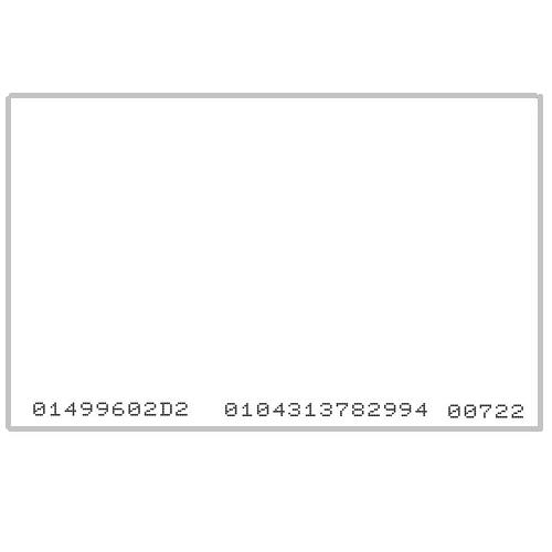 TARJETA PROXIMIDAD 125 KHZ EM NO IMPRIMIBLE. CSN IMPRESO 13D/5D. MIN 200 UD