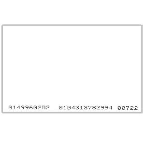 TARJETA PROXIMIDAD 125 KHZ EM IMPRIMIBLE CSN IMPRESO 10HEX+13D/5D MIN 100 UDS