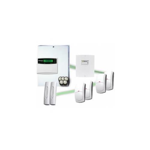 KIT VIA RADIO, ETH Y WI-FI, 2 DETECTORES VIA RADIO PIR, 1 MICROCONTACTO, 1 TECLADO LCDL-W