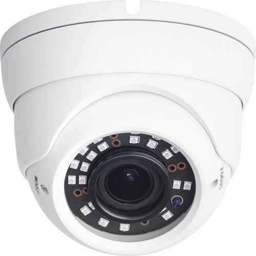 MINIDOMO 1080p.HDTVI, HDCVI, AHD EXT D/N IR.40M DWDR 2,8-12MM BLANCO 12VCC