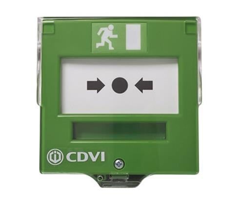 CDVI EM201 Pulsador manual Para Interior - Verde