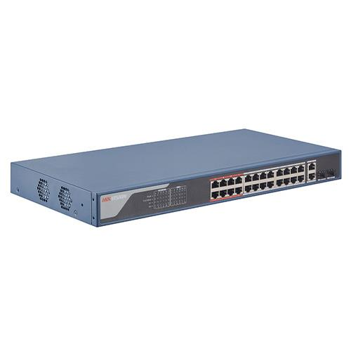 SWITCHES GESTIONABLE 24xPoE 100Mbps+2xGb