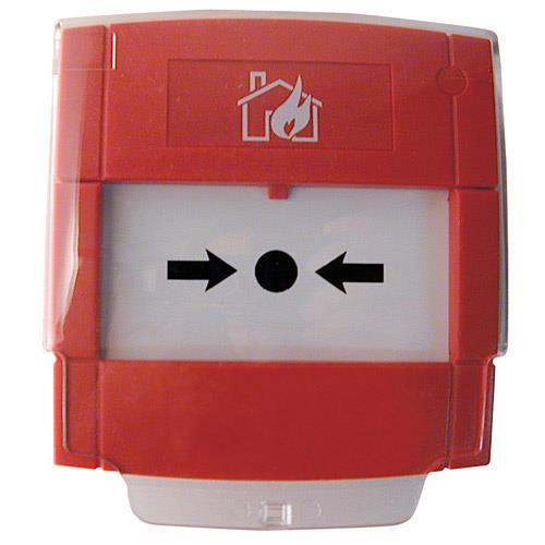 Pulsador de alarma direccionable rearmable
