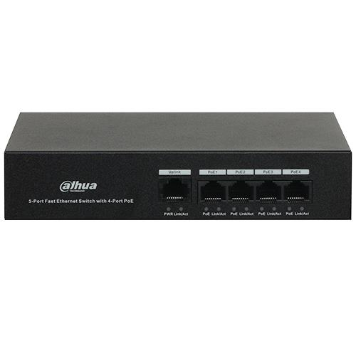 Switches NO Gestionable 4 Ptos 4 POE 36w