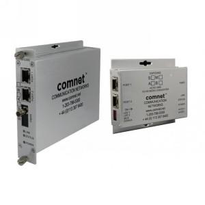 CONVERSOR DE MEDIOS ETHERNET-OPTICO 2 CANALES 2 X 10/100TX 2 X FIBRAS (1310) 3 KM 48-56VCC 30W POE+