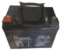 BATERIA DE PLOMO RECARGABLE Y SELLADA SERIE UP 12V 35 AH.
