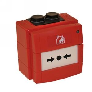 Pulsador convencional rearmable rojo IP67
